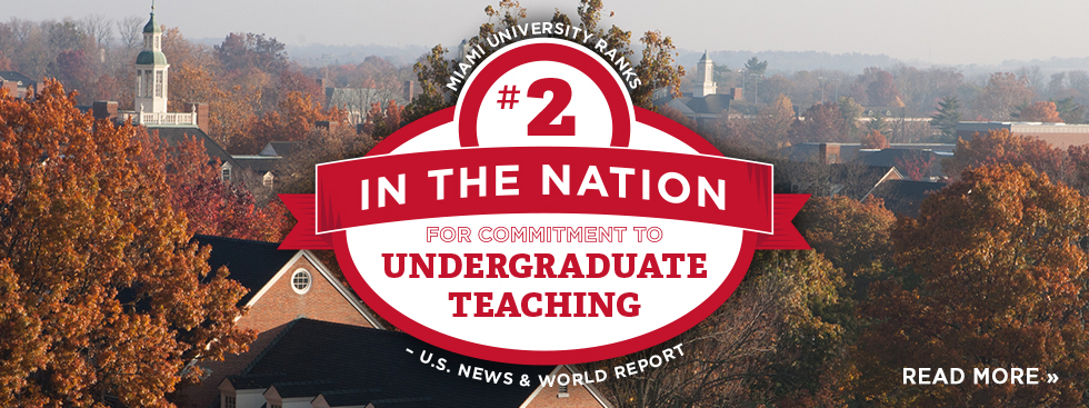 Miai University Ranks #2 in the nation for commitment to undergraduate teaching –U.S. News and World Report